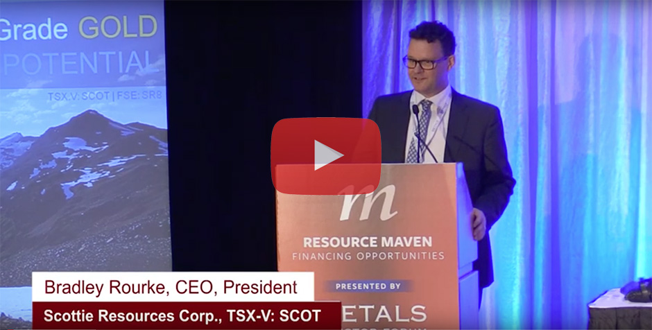 Resource Maven Financing Opportunities Conference October 10, 2019 - Brad Rourke, CEO of Scottie Resources Corp.