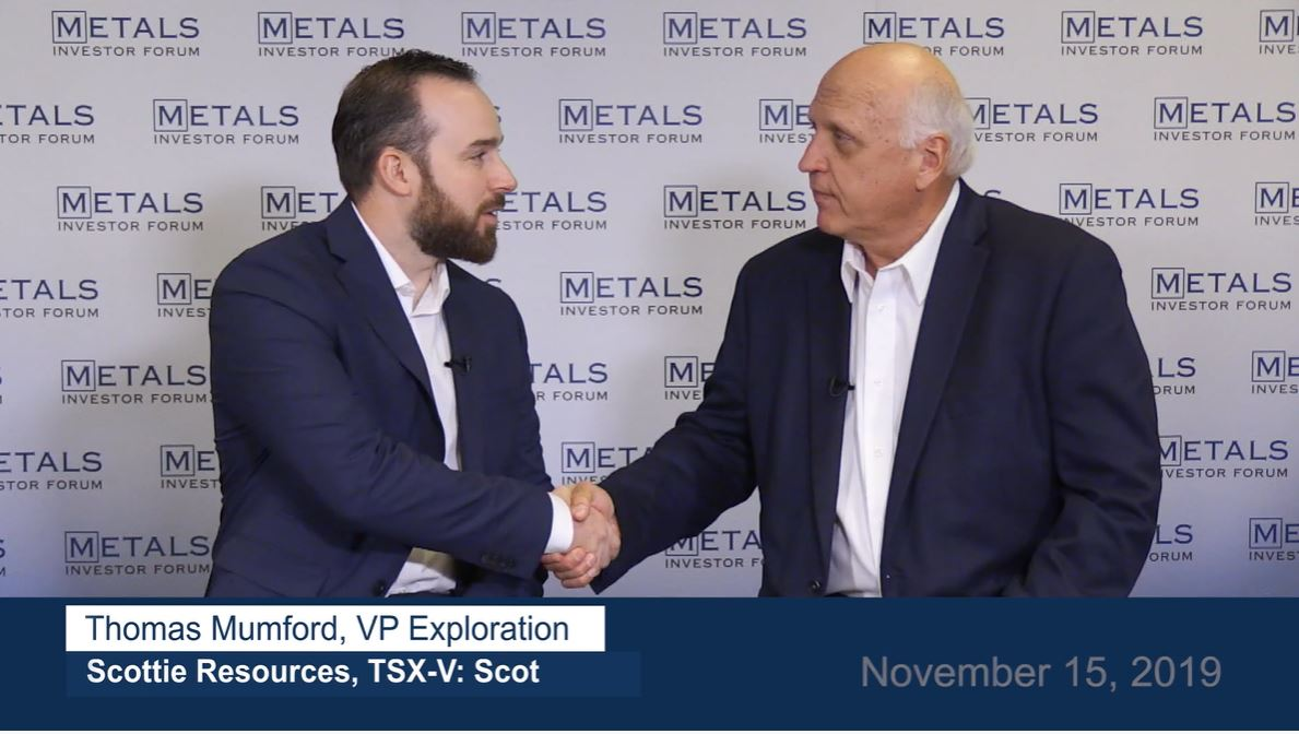 Greg McCoach and Thomas Mumford, VP Exploration backstage interview at the Metals Investor Forum November 15, 2019