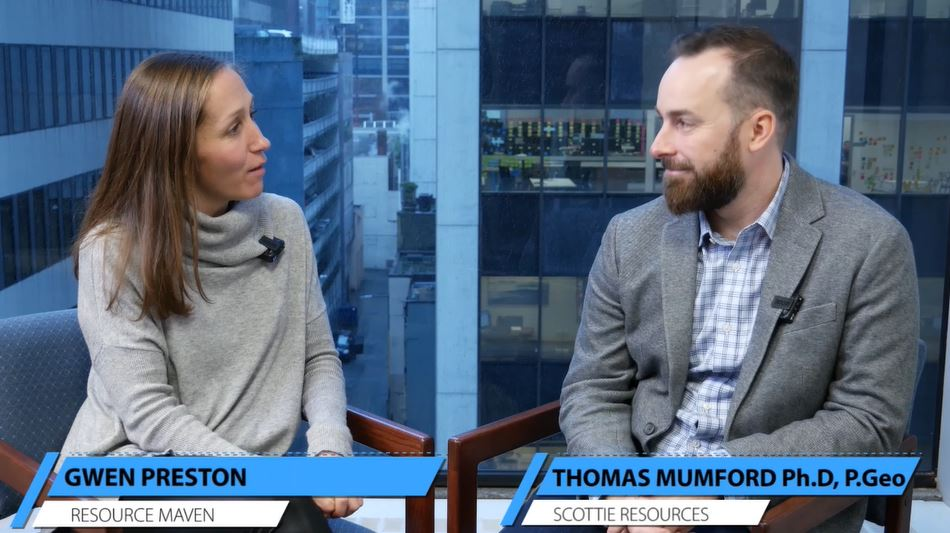 Scottie Resources' Thomas Mumford updates Resource Maven Gwen Preston on 2019 drill program results
